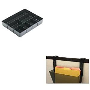 KITDEF391404RUB11906ROS - Value Kit - Deflect-o Plastic Partition Brackets (DEF391404) and Rubbermaid Extra Deep Desk Drawer Director Tray (RUB11906ROS)