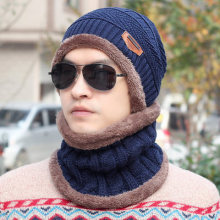 2018 Men Beanies Knit Hat Winter For Man knitted Cap Boys Thicken Hedging Cap Balaclava Skullies Fashion Warm knit Beanie