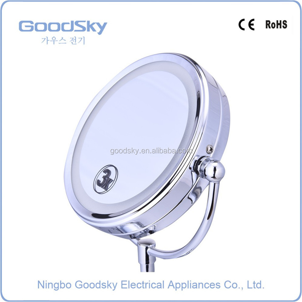 Cosmetic Standing Magnifying Lighted LED Travel Shaving Magic Mirror