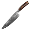 "8"" Inch Pakka Wood handle Custom Handmade Damascus Steel Knife"