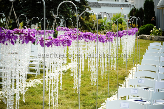 Hanging Crystal Chandelier Wedding Ceremony Decorations - Buy ...