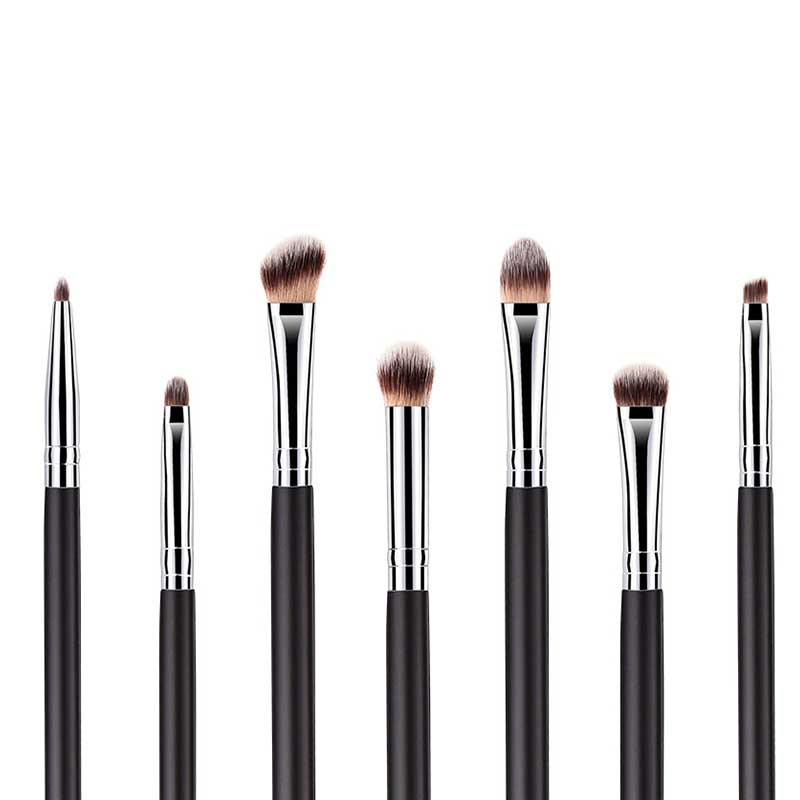 customize 7pcs eyes makeup brush set private label eyeshadow brushes print logo