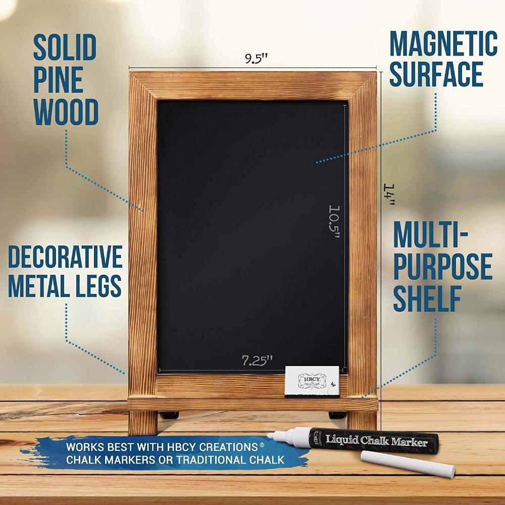 Creations Rustic Memo Board Antique Wooden Frame Torched Tabletop Chalkboard (9.5 x 14 inch) - Yola WhiteBoard | szyola.net