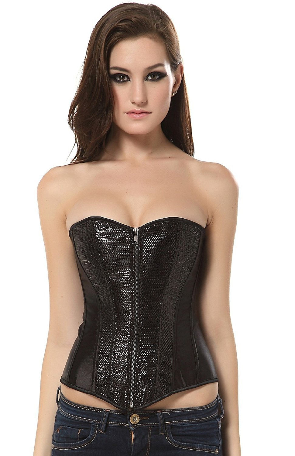 490f789106 Get Quotations · Ivy Shi Women s Overbust Sequin Corset Top