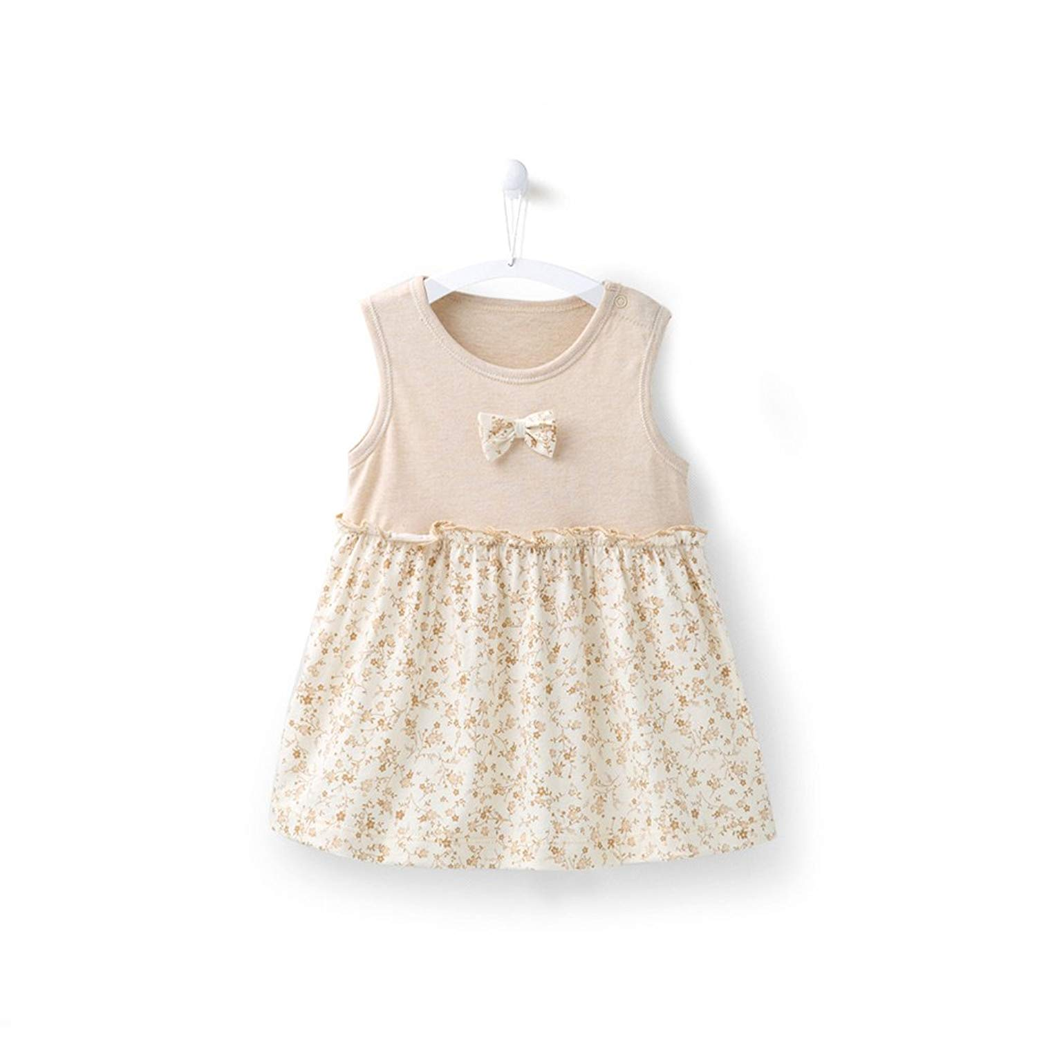 2ba9f354896d Get Quotations · COBROO Baby Girl Cotton Sleeveless Princess Dress Gift  with Bowtie Floral Dress Set with Briefs for
