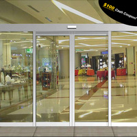 Commercial building automatic sliding entrance front doors