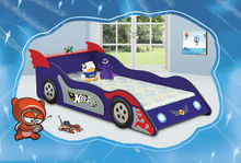 Baby Car Bed Blue Sports Car Wood Bored Kids Car Shaped Bed