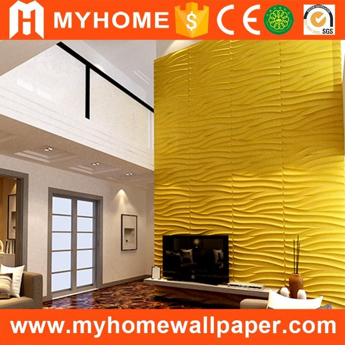 Vente chaude fiber de bambou d coratif 3d brique conception de luxe bois pann - Panneau mural pour tv ...