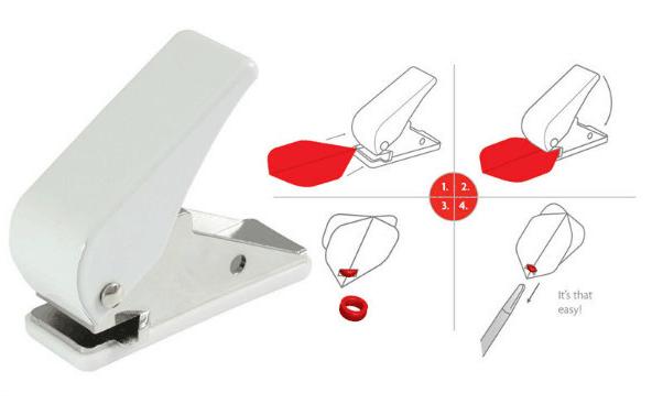 Professional Dart Flight Hole Punch Tool Dart accessory for Dart Flight