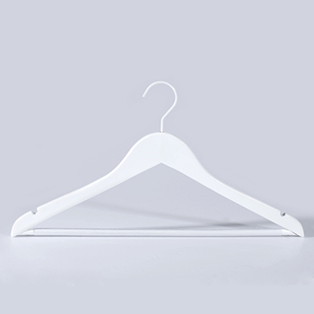 Custom Logo High Quality Luxury White Wooden Clothing Hangers for Suits