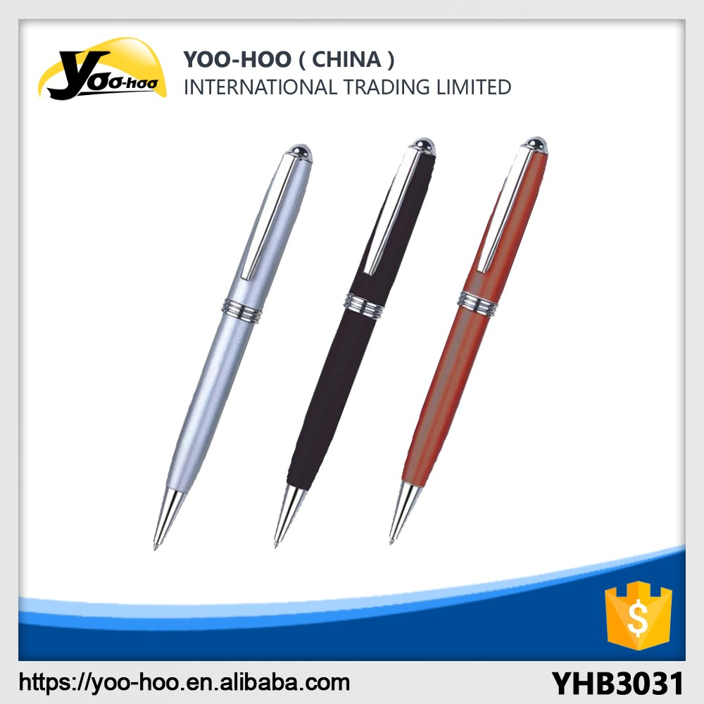 Promotional metal ballpen with clip luxury office gift