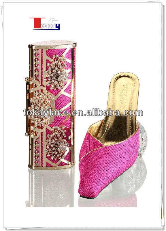 2013 Latest Summer Slipper matching shoes and bags