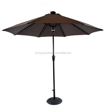 9 Feet Hot Sale Patio Led Umbrella Light With Bluetooth Speaker