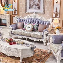 Indonesia French Antique Reproduction Furniture Two Seat Sofa