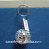 Wholesale disco ball key ring with PVC tag or Metal tag
