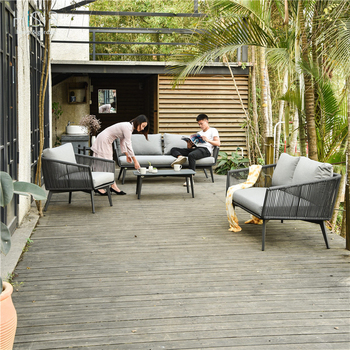 In stock luxury rope garden sofa set northcrest outdoor furniture
