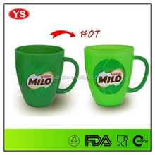 10 oz hot cocoa plastic make color change mug with handle