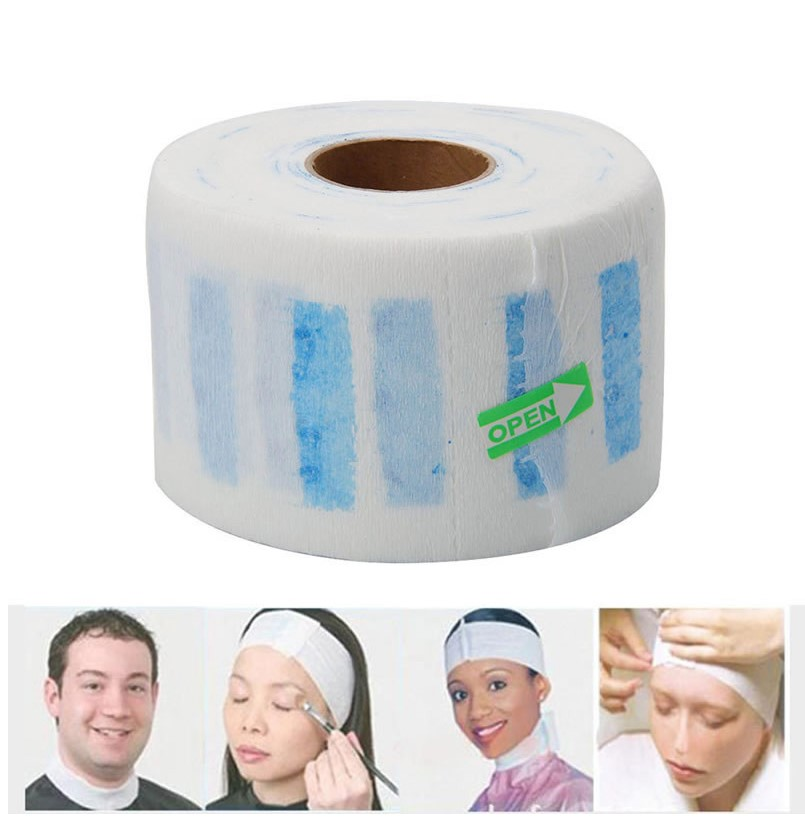 Professional Disposable Stretchy Disposable Neck Paper Roll for Barber Waterproof Salon Hairdressing Hair Styling Tools White