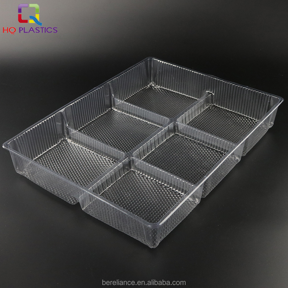 6 Compartments Disposable Plastic Cookie Blister Packaging Tray ...