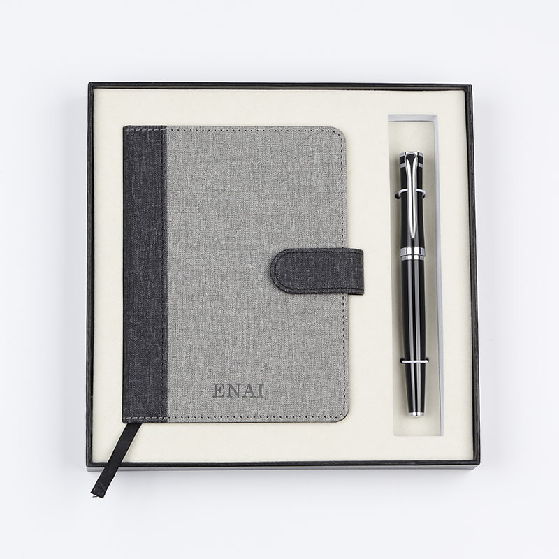 Hot selling business gift notebook with classical metal pen gift set for <strong>promotion</strong>