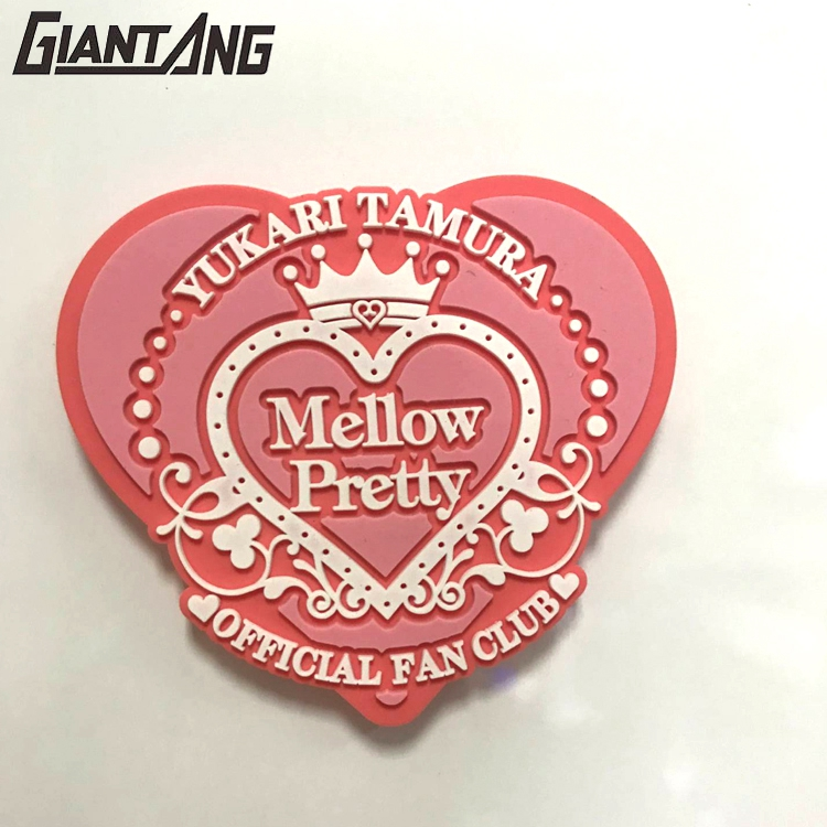 Custom Design Pvc Powerful Pink Heart Holiday Refrigerator Magnet