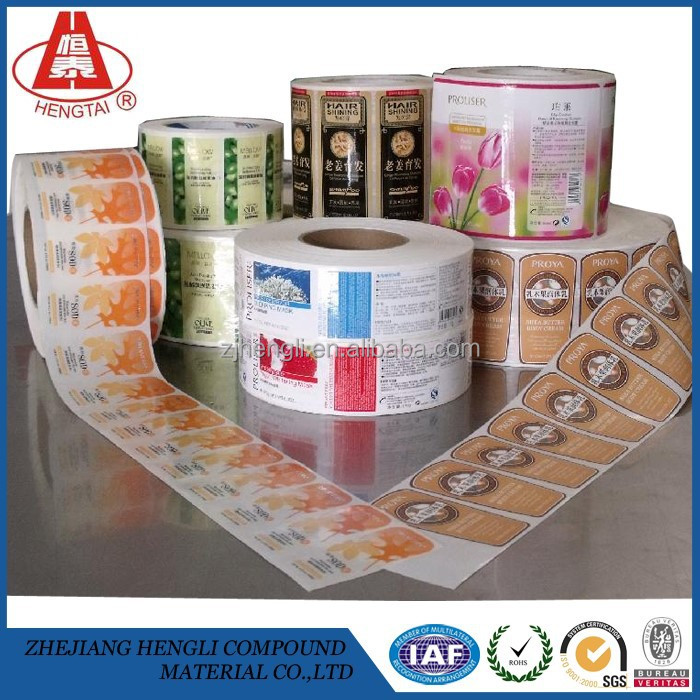 HENGTAI 2015 New Products Food/Cup/Wine Self Adhesive Label Packaging Material Sticker