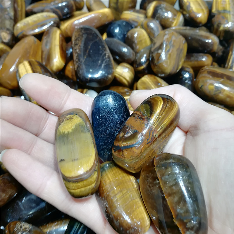 Wholesale pretty tiger eye polished crystal tumbled gravel stone healing and meditation for home decoration