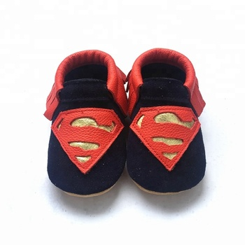 cc012188a202 superman cow leather baby moccasin soft sole genuine leather baby boys shoes