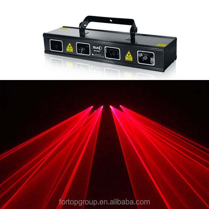 New Christmas Red Laser light dj 4 Head Lightings DMX 512 Laser differnt effects
