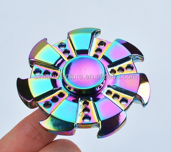 Dazzle Colour Alloy Metal EDC Fidgets Hand Spinner For Autism ADHD Rotation Time Long Anti Stress Hands Busy Kids Toys