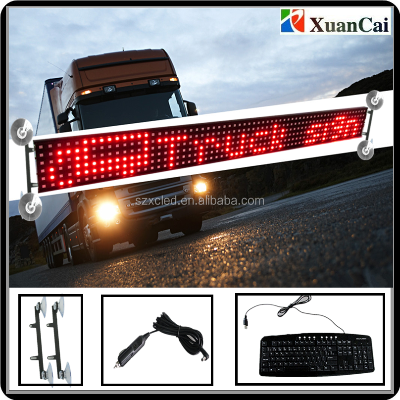 Alibaba hot sell Brazil Keyboard truck 12/24V LED scrolling message display
