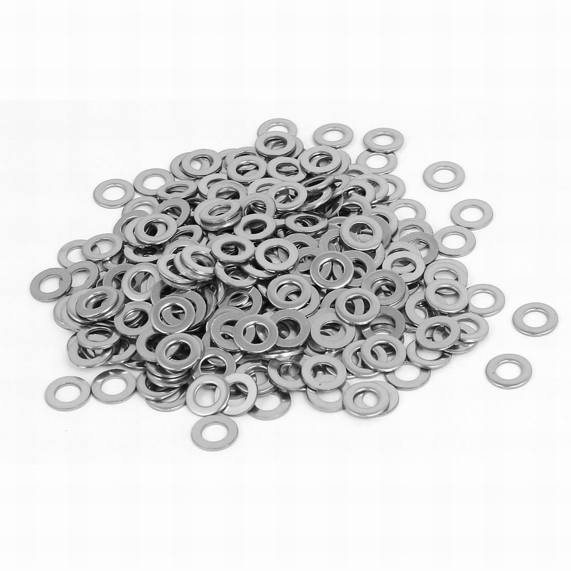 uxcell M2 304 Stainless Steel Flat Washers Spacers Fastener DIN125 200PCS