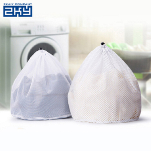 Multi Size Foldable Polyester Laundry Bag Bra Socks Underwear Clothes Washing Machine Protection Net Mesh Bags with Zippered