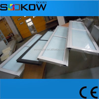 aluminum frame glass panel automatic garage doors