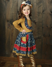China wholesale baby casual design long girl dress