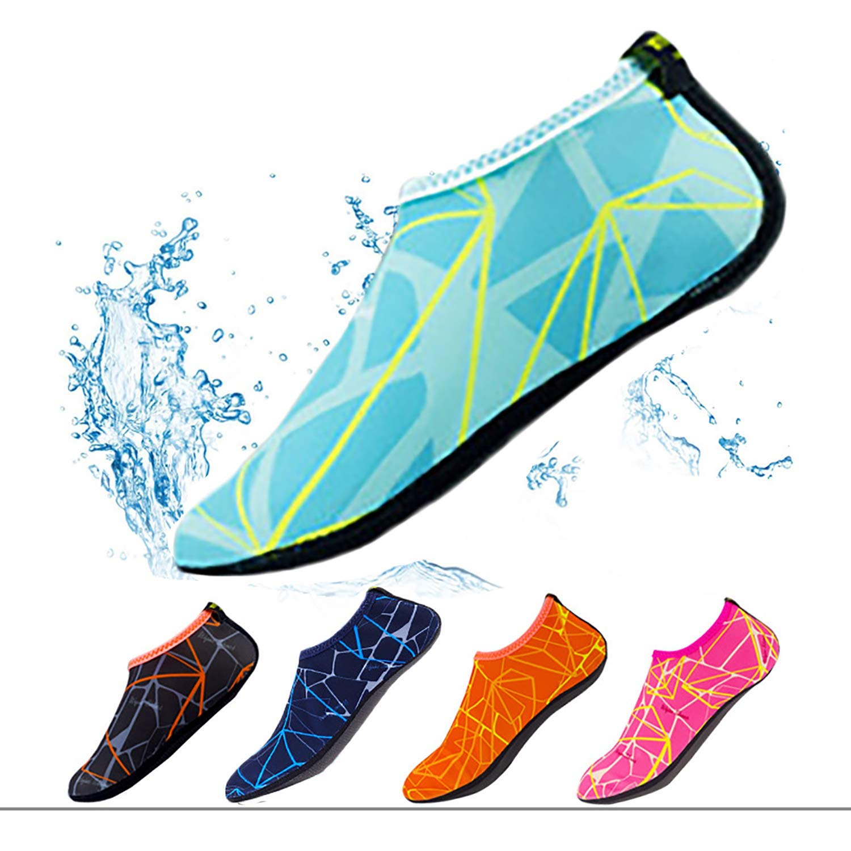 June Sports Water Shoes for Womens Mens Kids Barefoot Quick-Dry Aqua Socks Yoga Socks Slip-on Pool Beach Swim Shoes Surf Boating Sailing QS1