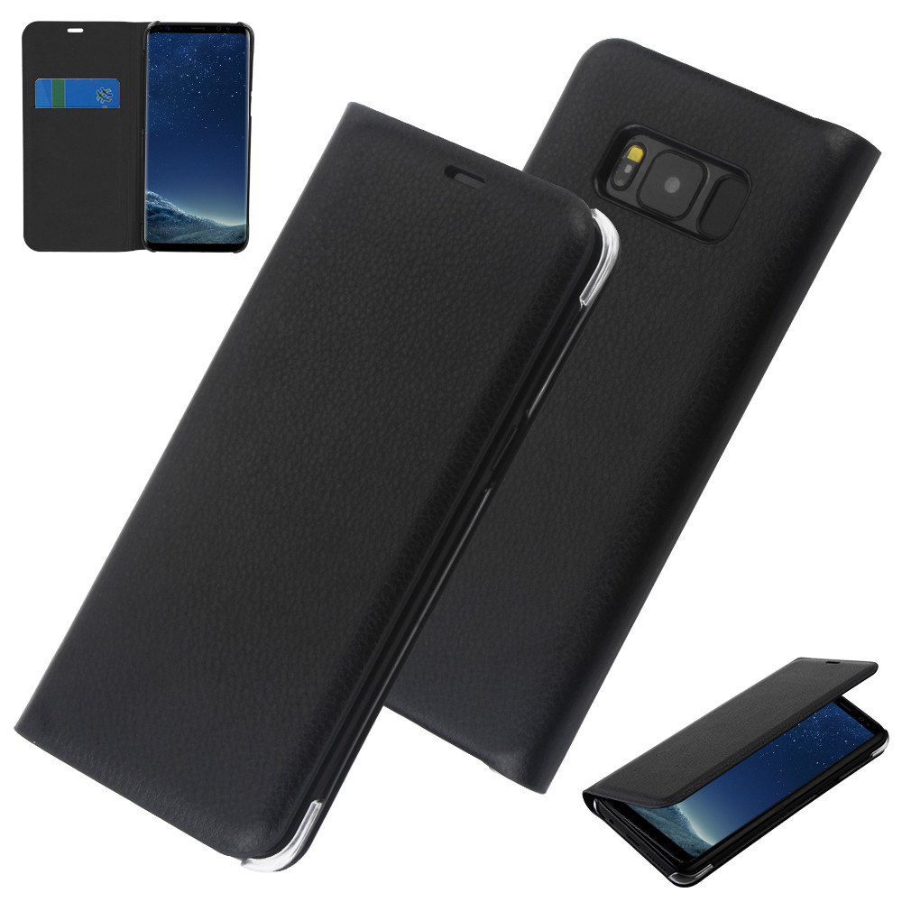Free post ship for Samsung galaxy S8 plus Case Leather Flip wtih Card slot Thin Slim for galaxy s8 plus S8PLUS Full Phone Cover