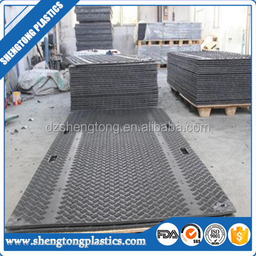Construction hdpe temporary road mats