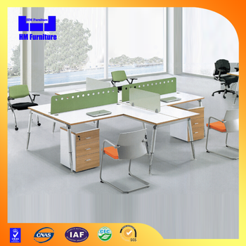 4 Person Modern Design Wooden Office Workstation Layout - Buy ...