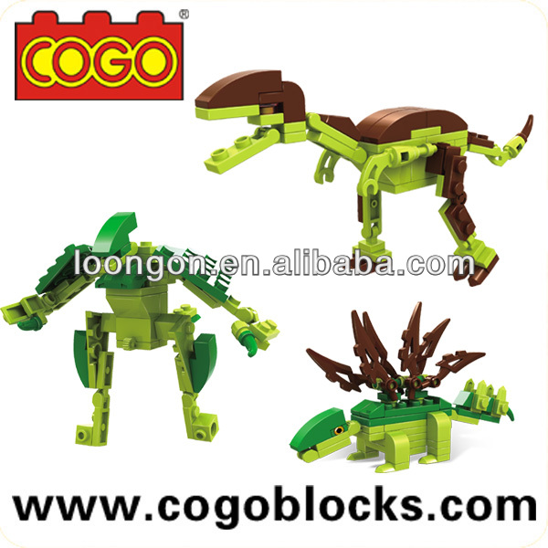 COGO Kid Connection Toys 8 Asstd Dinosaur blocks Plastic Connecting Toys