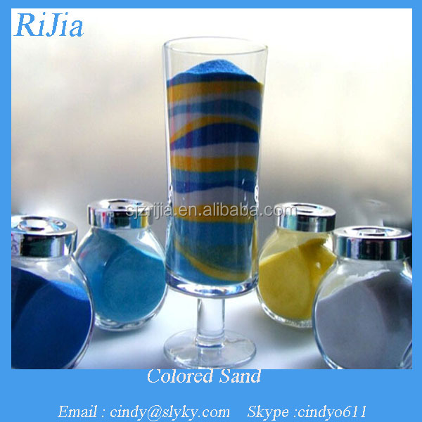 artificial colored sand for decoration
