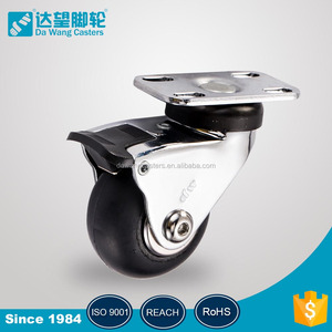 Factory direct sale 3 inch solid small rubber wheels For