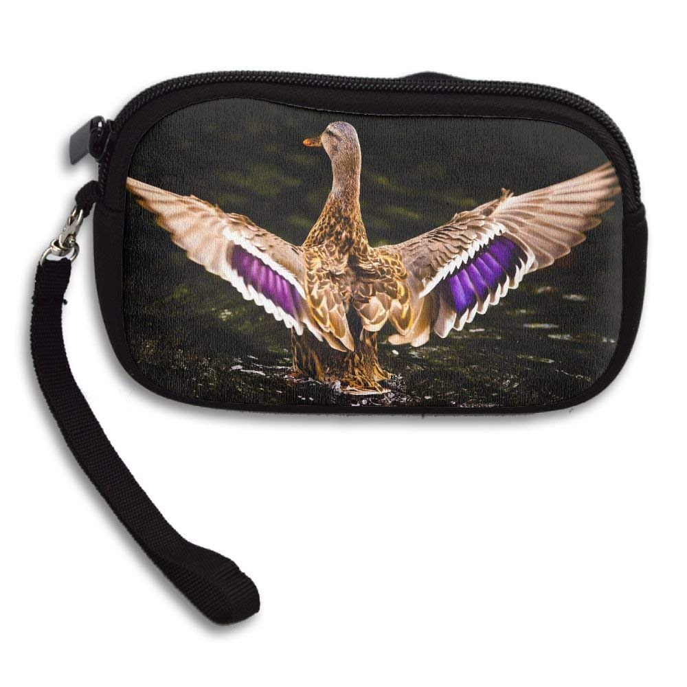 COLORFUL DUCK Deluxe Printing Small Purse Portable Receiving Bag