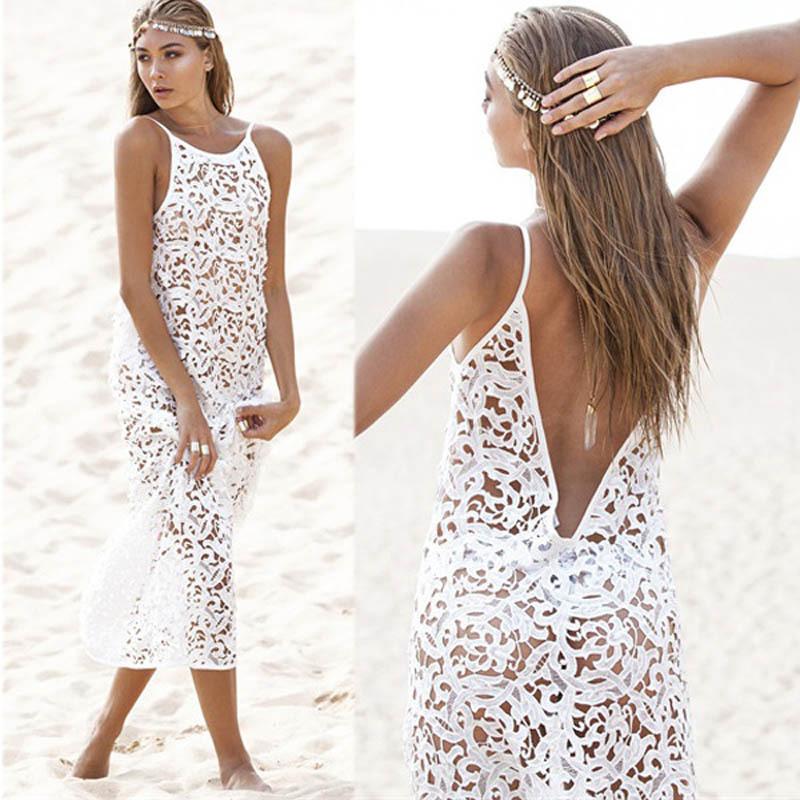 robe la mode robe longue de plage blanche. Black Bedroom Furniture Sets. Home Design Ideas