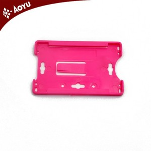 Colourful ready stock Hard ID Card Holder/plastic card holder /credit card holder