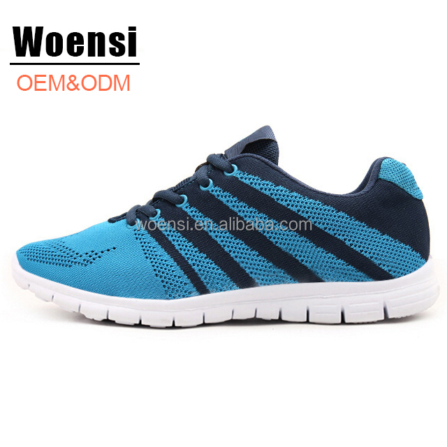 latest popular fashion young men durable comfort fly knit sneakers running