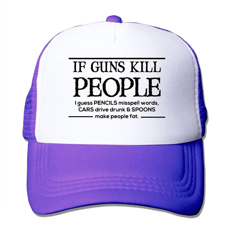 7d93da131b513 ooiilpe Men women If Guns Kill People Pencils Misspell Words Outdoor Hip  Hop Leisure Cotton Mesh Cap
