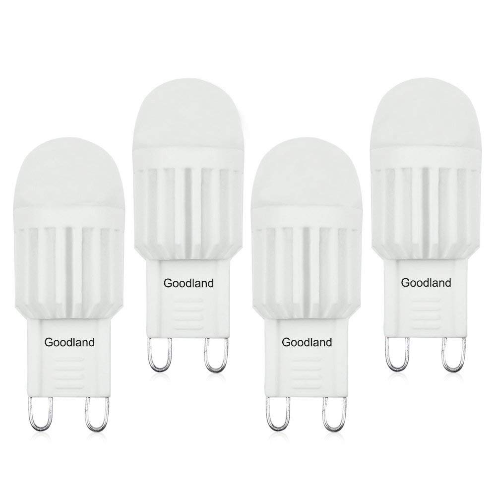 Goodland's Dimmable G9 Ceramic LED Bulb,AC110-130V 3W, High Power Energy Saving Replace Halogen Lights (Warm White   3000K)