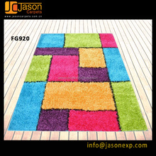 colorful children 3600d flag yarns shaggy tapis carpet