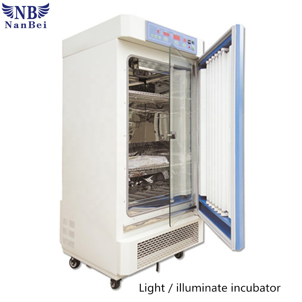 250L LCD display light incubator for agriculture